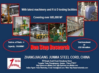 ZHANGJIAGANG JUNMA STEEL CORD, CHINA